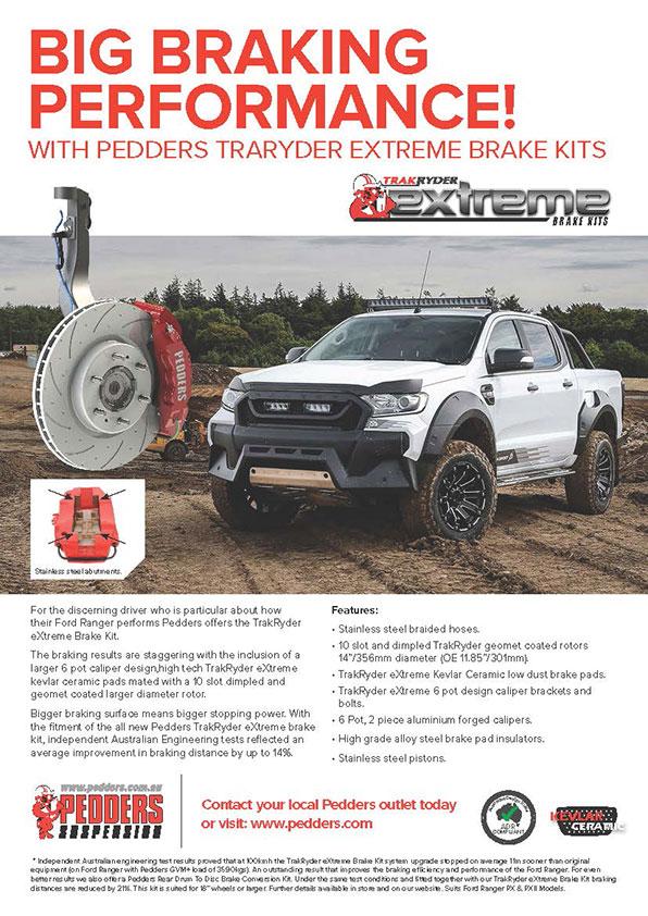 Big Braking Performance with Pedders TrakRyder eXtreme Brake Kits