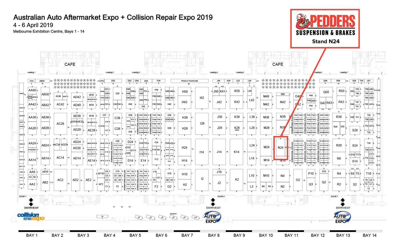Pedders are located on stand N24 at the 2019 AAAA Expo